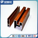 Suministro de la fábrica de grano de madera de alta calidad perfil de aluminio para la ventana de la puerta/.