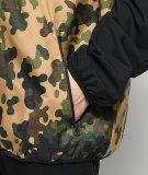 Черная зеленая куртка Windbreaker Camo