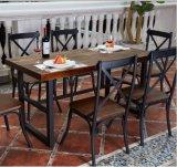 Sedia del ristorante del metallo della parte posteriore della traversa della replica