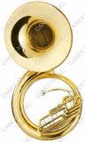 Sousaphone chave da laca do ouro do Bb (TUS-700L)
