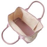 La tela di canapa ha unito con il sacchetto del cliente del Tote delle signore di bellezza dell'unità di elaborazione