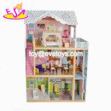 Un Dollhouse moderno lussuoso dei tre capretti di legno dei pavimenti di migliore disegno con mobilia W06A247