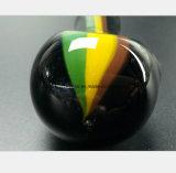 4.13 polegadas de punho de vidro preto do tabaco do filtro da tubulação de água