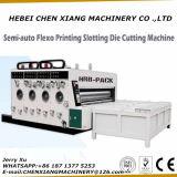 Alimentador de la cadena de 2 Color impresora de papel corrugado Slotter y Die Cutter