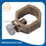 配水管への結合の裸の銅線のための青銅色の地上クランプ