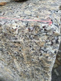 建物の舗装の壁そして床のための中国の花こう岩のNatrueの石造りのタイル(gialloヴァーモント)