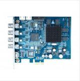 4チャネルHDSdi完全なHD費用有効PCI-Eの圧縮のカード