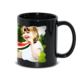 Hotsale Wholesale China 11oz Black Luminous Irregular Edge Digital Magic Ceramic Photo Coffee Mugs
