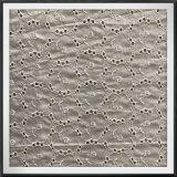 Tela bordada do laço do algodão da tela de algodão