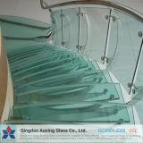 El vidrio templado clara de Cristal de construcción