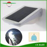 Sensor de movimiento de la lámpara de exterior de aluminio de pared de luz solar