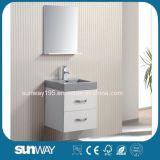 Diseño moderno clásico en la pared MDF Baño Hotel Vanity unidades