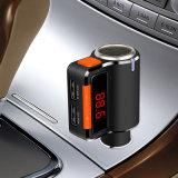 Transmisor FM Bluetooth manos libres coche con USB Cargador de coche