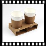Настраиваемые две чашки одноразовый поддон для чашек кофе бумаги держатель для упаковки