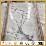 壁のための普及した白い氷のヒスイの大理石の石のタイルかフロアーリングまたはカウンタートップ