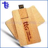 最もよいギフトビジネス木のカードのメモリ棒のペンの親指駆動機構