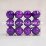 Perlados Baubles Caja de PVC bolas de Navidad Decoración de Navidad P12-PRB1