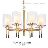 Lampadario a bracci contemporaneo di rame di vetro del metallo di placcatura LED di disegno della lampada Pendant