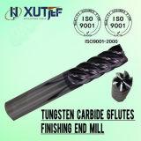 Coupe en carbure monobloc 6 flûtes droite carrée des outils de découpe CNC