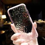 Le quadrillage transparent couvercle mobile TPU de caoutchouc/enveloppe de silicone Téléphone cellulaire dos du boîtier pour Samsung/Huawei