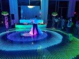 Commerce de gros super mince pour installer une seconde étape de DJ Mariage LED magnétique sans fil d'éclairage de plancher de danse