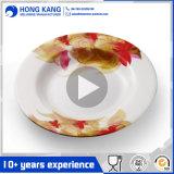 Custom unicolor plastique alimentaire ronde dîner les plaques de mélamine
