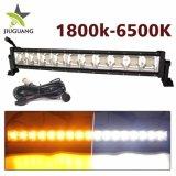 Hete het Verkopen Dubbele Kleur 3000K die 6500K 12D IP68 22inch Combo LEIDENE Lichte Waterdichte Staaf drijft, van de LEIDENE van de Stroboscoop Lichten de Lichte Vlek van de Staaf 4X4