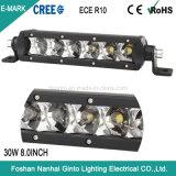 Bas profil ultraplat 30W 8pouce CREE LED Light Bar pour voiture camion hors route (GT3510-30W)