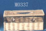 Rotin et le tissu de fil Box (M0337)