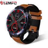 Lemfo Lem12 4G si raddoppia vigilanza astuta delle macchine fotografiche 1.6 frequenza cardiaca di ceramica di Powerbank SIM GPS WiFi delle coperture del Android 7.1 di OS di risoluzione dello schermo 400X400 di IPS di pollice Smartwatch