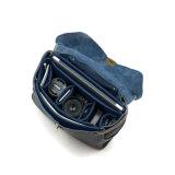 Новые поступления хорошего качества темно-синяя кожа сумка для фотокамер Nikon Креста органа мешок