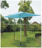 فولاذ خارجيّة فناء مظلة مع أيادي دفع مظلة