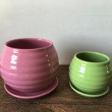Handmade 녹색 세라믹 화분