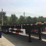40FTの輸送容器の平面容器のトレーラー