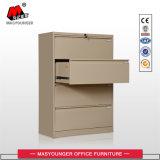 Gabinete de arquivo colorido da gaveta da lateral 4 do uso do escritório do armazenamento