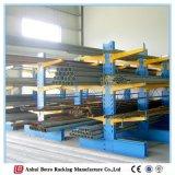 Cremalheira Cantilever industrial da prateleira do metal ajustável