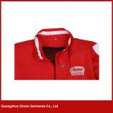 Capa de encargo barata al por mayor de la chaqueta de la fábrica con su propia insignia (J164)