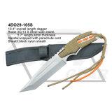 """10.5 """"Punho de lâminas de seda em aço S. Steel com cabo de pára-quedas"""