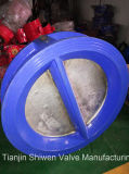 La valvola di ritenuta doppia della cialda del piatto con l'iso del Ce approva