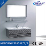 Einfacher Entwurfs-Edelstahl-wasserdichter Badezimmer-Schrank