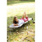 Regulables Camping plegable cama con tubo de acero hierro