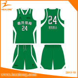 Basket-ball chaud Jersey de sublimation de teinture de modèle de vêtements de sport de vente de Healong
