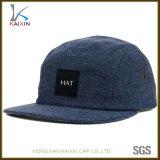 カスタム安く平らな縁のデニム5のパネルの帽子および帽子