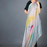 Kaschmir-modaler gemischter Schal, Digital gedruckter Schal