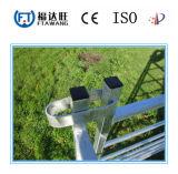電流を通されたヒツジの塀または金網または塀のパネル