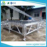 Aluminiumstufe-Plattform-im Freienkonzert-Stufe-Auslegung-hölzerne Stufe-Plattform