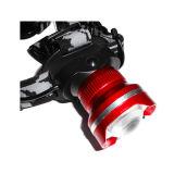 Phare de Xml T6 DEL de CREE de zoom de glissière de lentille de plot réflectorisé grand avec la caisse de batterie arrière actionnée par 3AA ou 18650