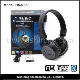 Bluetooth ad alta fedeltà Headset con affissione a cristalli liquidi variopinta (OS-N65)