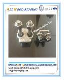 la goccia dell'acciaio inossidabile ha forgiato le clip della fune metallica (304, 316L)