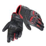 Красный мотоцикл кожаный перчаток высокого качества участвуя в гонке перчатки (MAG90)